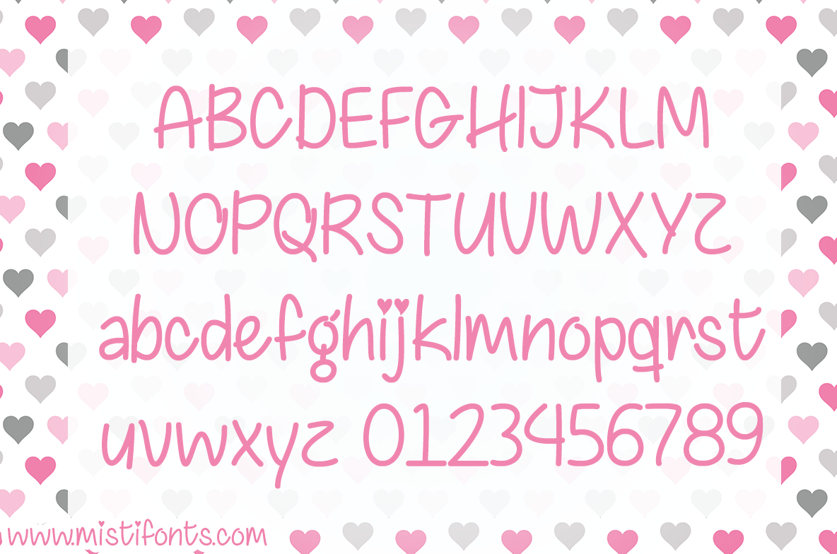 chasing hearts by misti's fonts