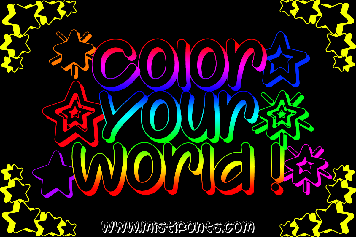 Color Your World by Misti's Fonts.
