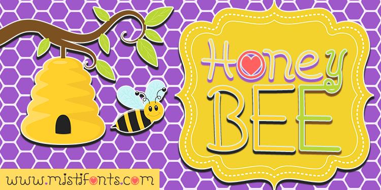 Honeybee Font by Misti's Fonts