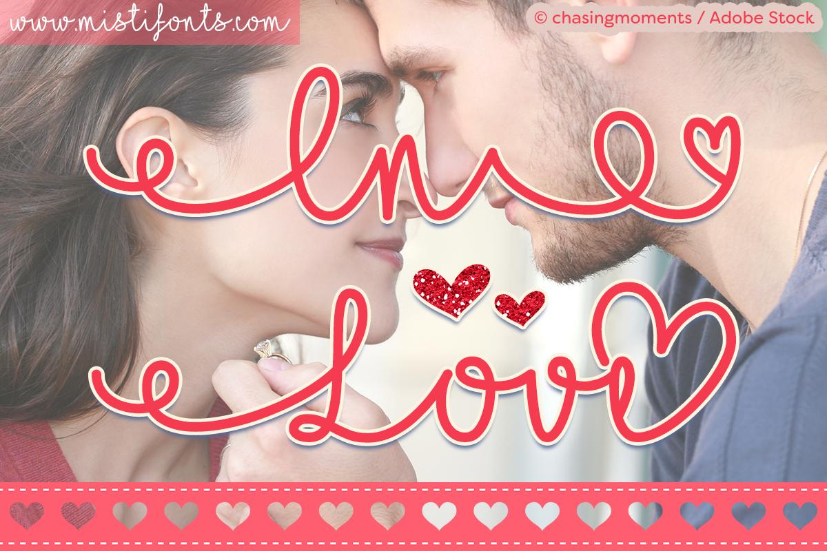I Love Glitter by Misti's Fonts. Image Credit: © chasingmoments / Adobe Stock
