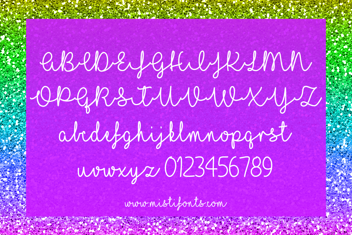 I Love Glitter by Misti's Fonts