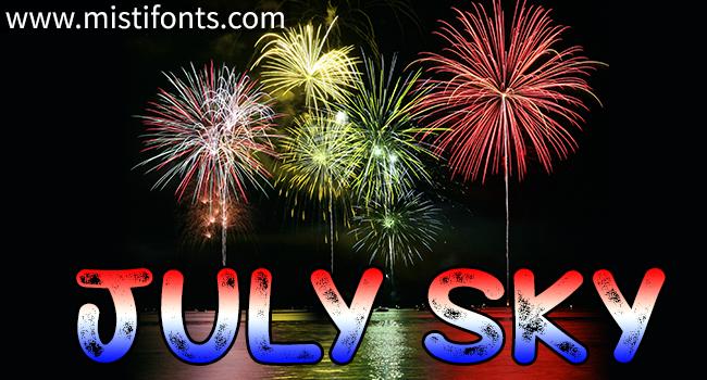 July Sky Font.