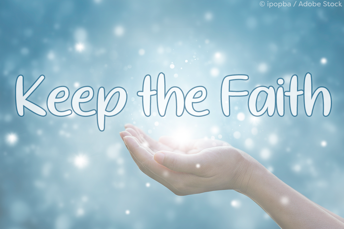 Keep the Faith by Misti's Fonts. Image credit: © ipopba / Adobe Stock