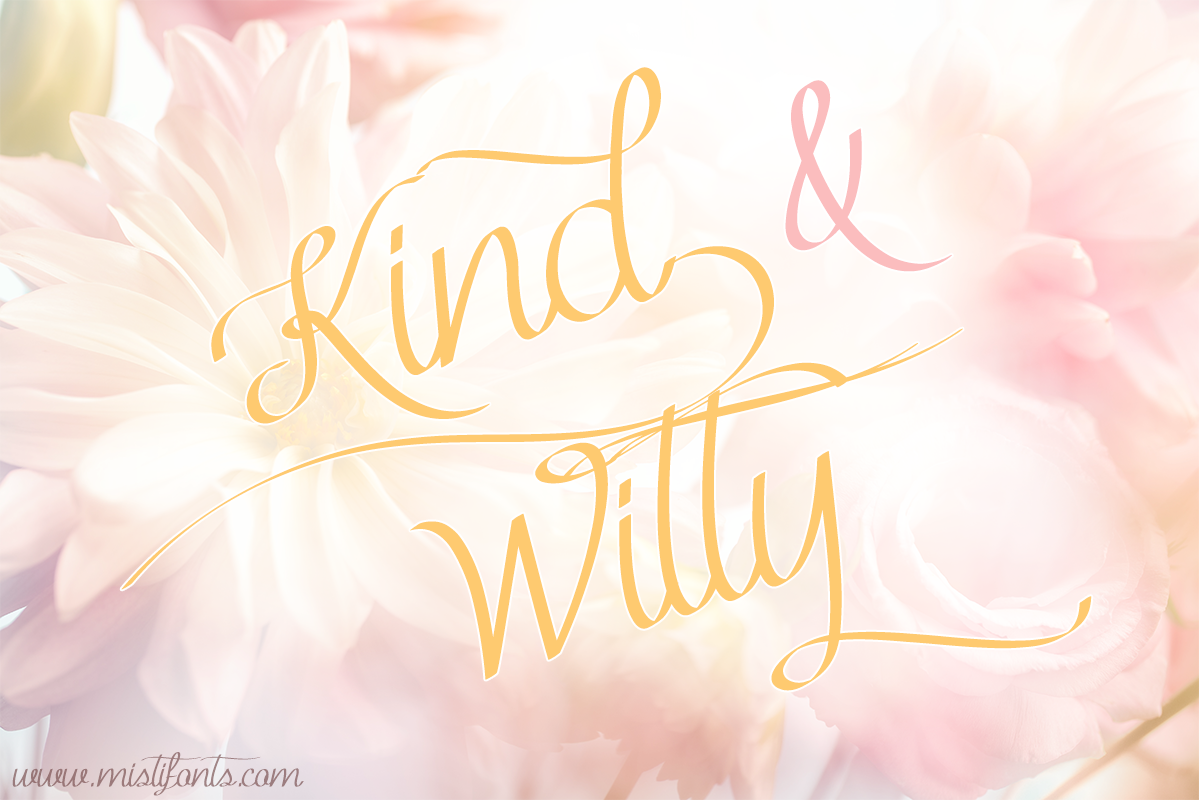 Kind & Witty by Misti's Fonts. Image Credit: © lily / Adobe Stock