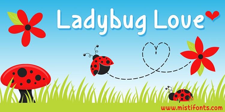 Ladybug Love Font by Misti's Fonts