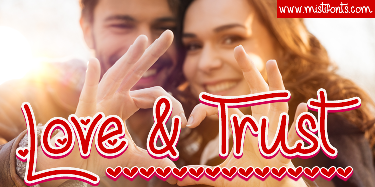 Love and Trust Font by Misti's Fonts. Image credit:  © Rido / Adobe Stock