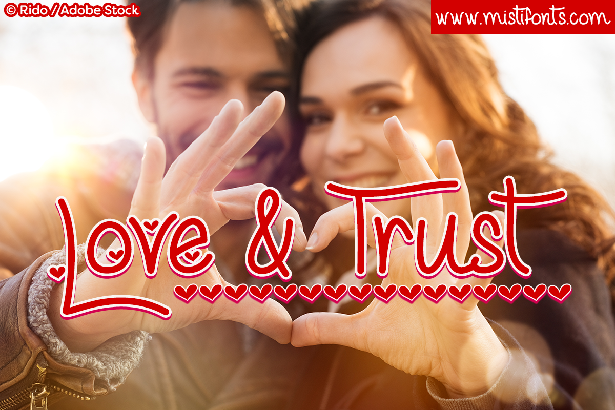 Love & Trust by Misti's Fonts. Image credit: © Rido / Adobe Stock