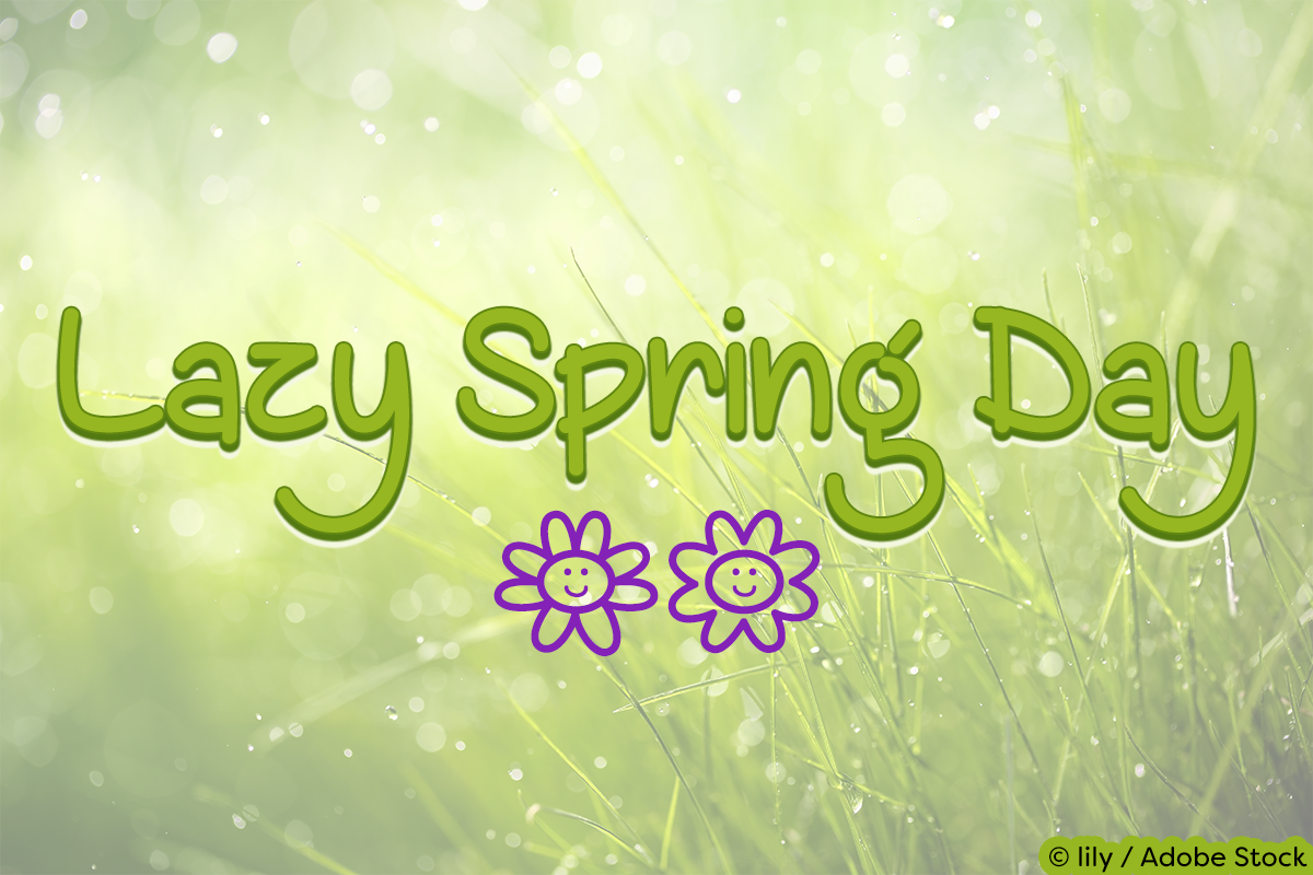 Lazy Spring Day Font by Misti's Fonts. Image credit: © lily / Adobe Stock