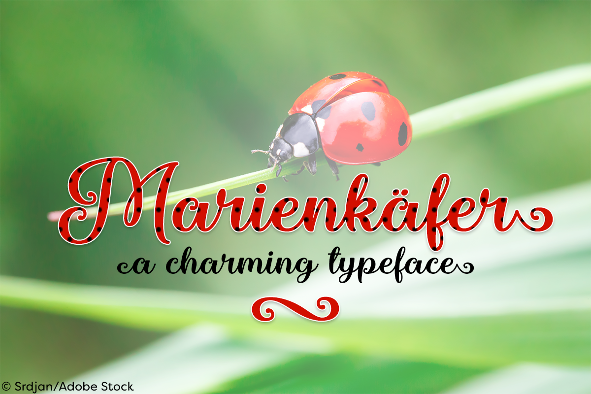 Marienkaefer by Misti's Fonts. Image credit: © Srdjans / Adobe Stock