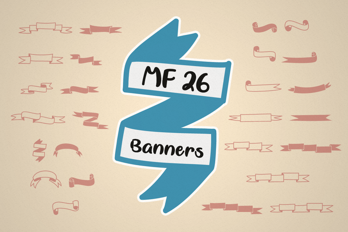 MF 26 Banners by Misti's Fonts.