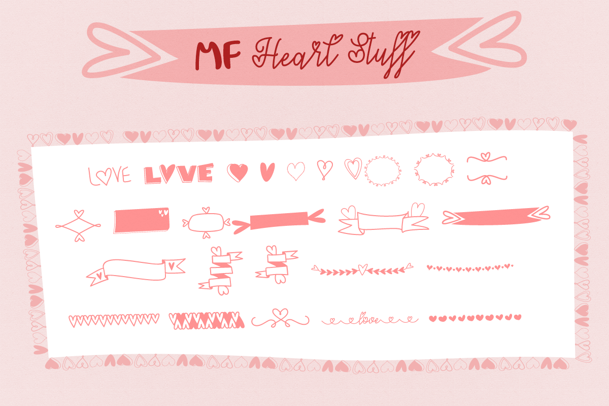 MF Heart Stuff by Misti's Fonts.