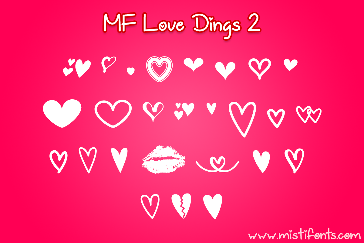 MF Love Dings 2 by Misti's Fonts.