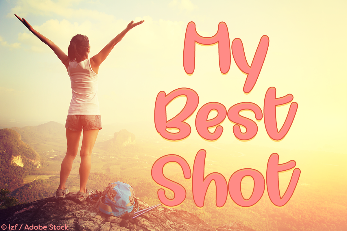My Best Shot by Misti's Fonts. Image credit: © lzf / Adobe Stock