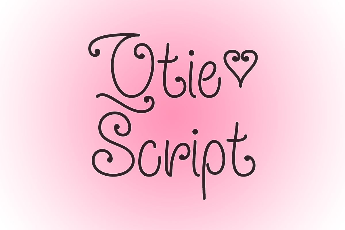 Qtie Script by Misti's Fonts.