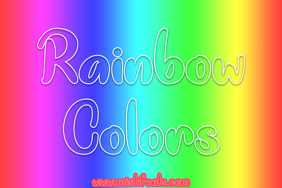 Rainbow Colors by Misti's Fonts.