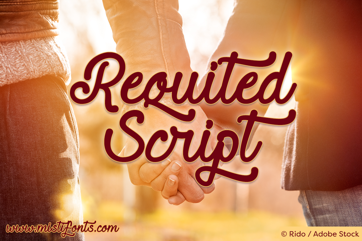 Requited Script by Misti's Fonts. Image Credit: © Rido / Adobe Stock