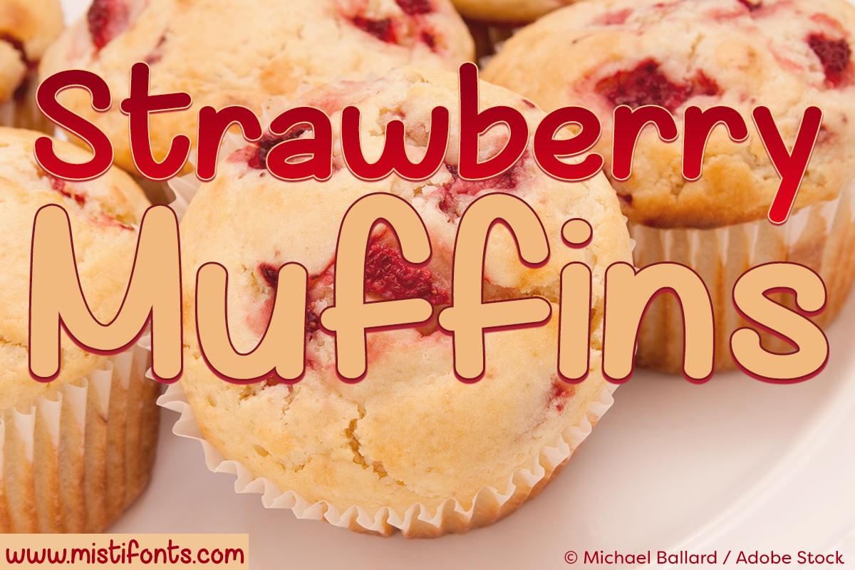 Strawberry Muffins Font by Misti's Fonts. Image credit: © Michael Ballard / Adobe Stock