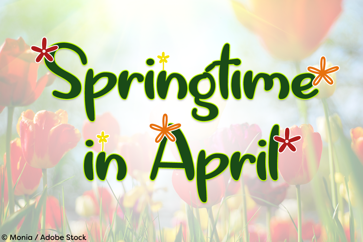 Springtime in April by Misti's Fonts. Image credit: © Monia / Adobe Stock