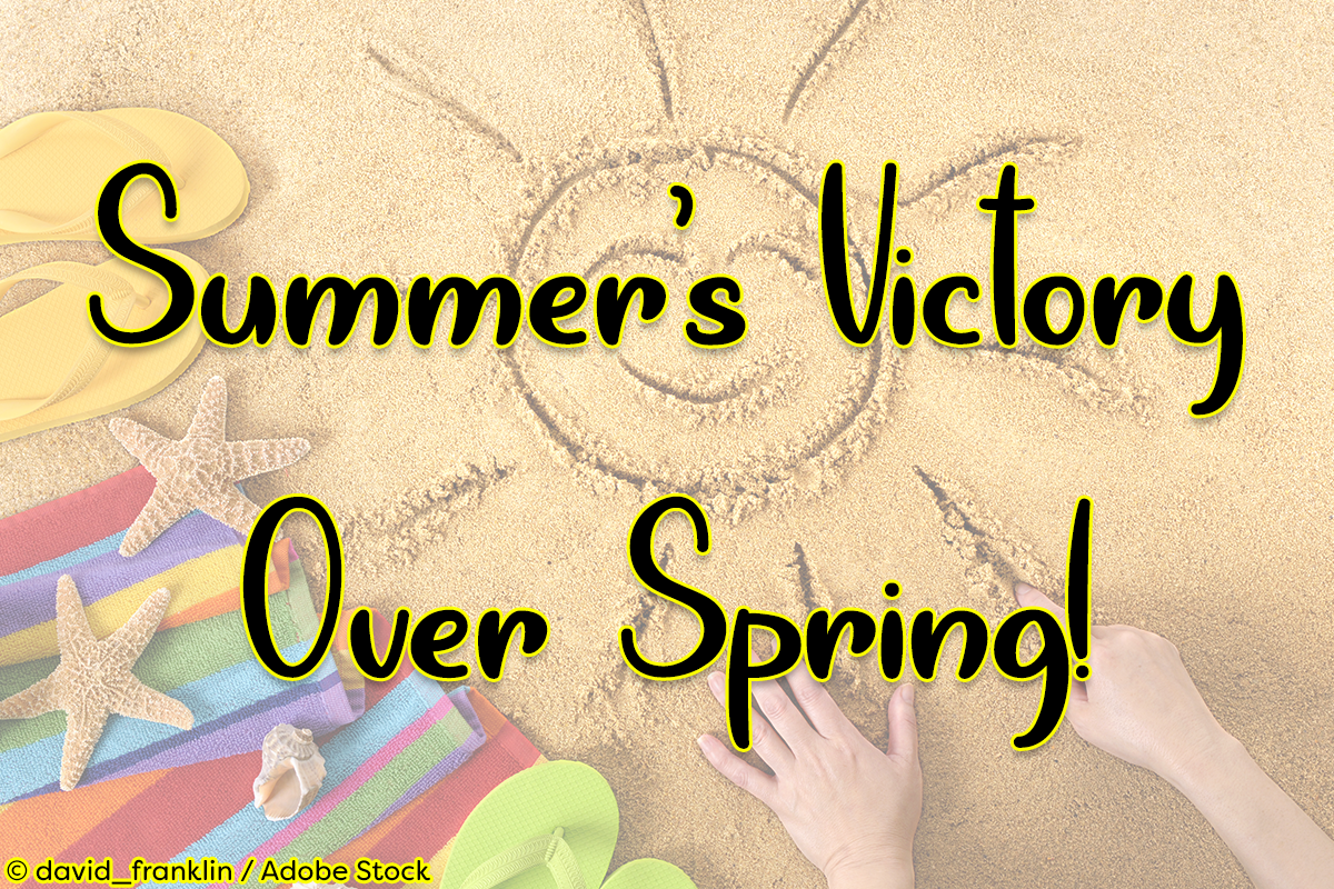 Summer's Victory Over Spring by Misti's Fonts. Image credit: © david_franklin / Adobe Stock