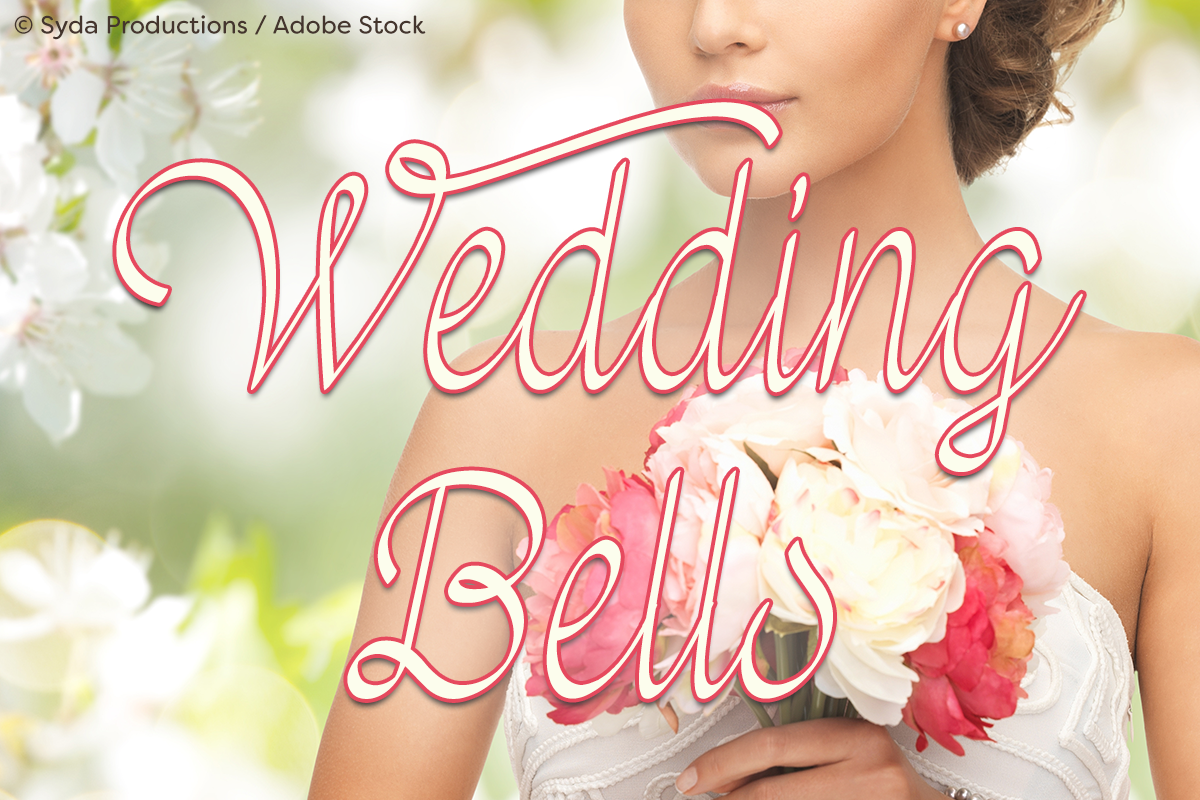 Wedding Bells by Misti's Fonts. Image Credit: © Syda Productions / Adobe Stock