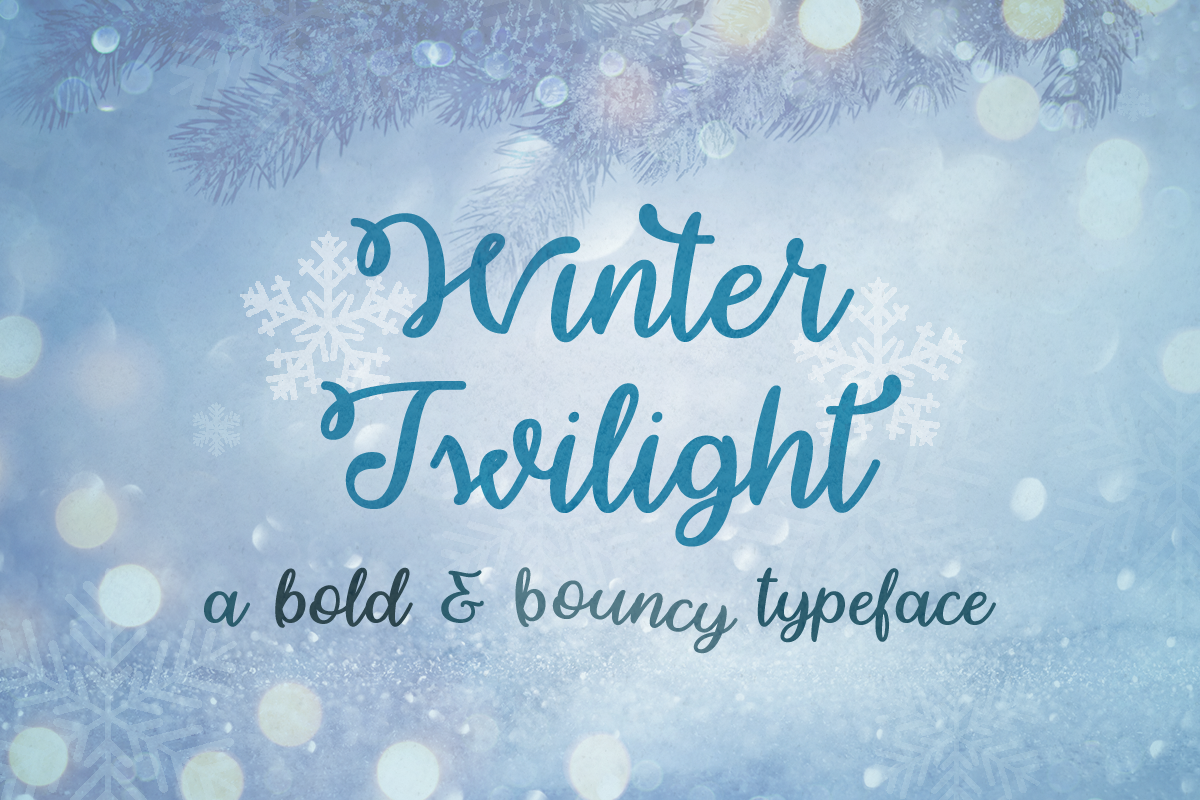 Winter Twilight by Misti's Fonts.
