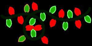 christmas lights red green