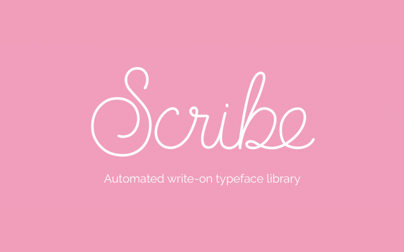 Scribe - Automated write-on typeface library