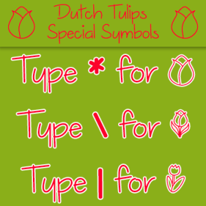Dutch Tulips Font by Misti's Fonts