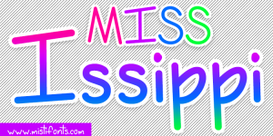 Miss Issippi Font by Misti's Fonts